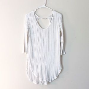 BNWT Free People   cut out knit top S